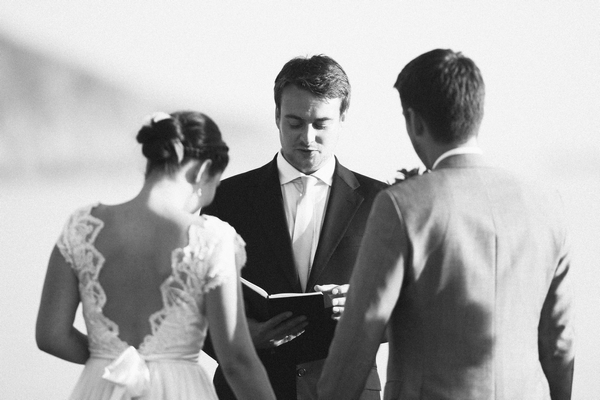 Bride and groom taking wedding vows - Picture by DanielRM