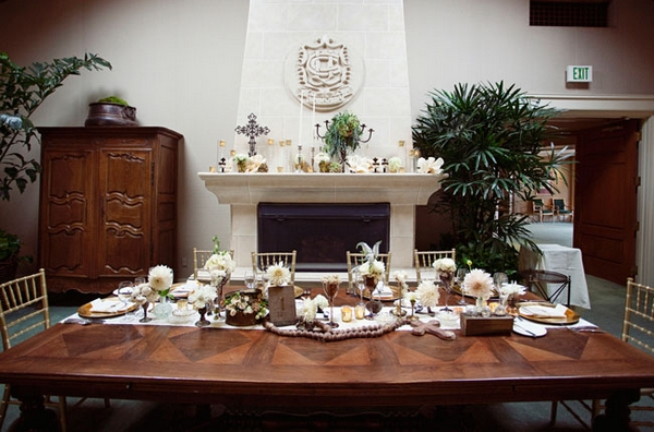 Grand table at wedding - Picture by Joielala