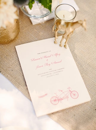 Wedding menu - Picture by Kate Harrison Photography
