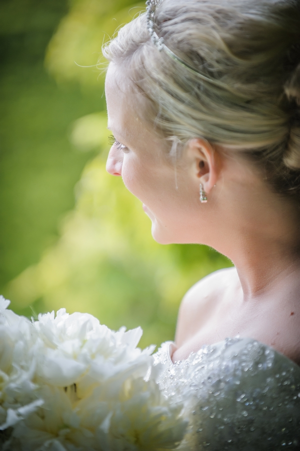 Side of bride's face - Picture by Pixies in the Cellar