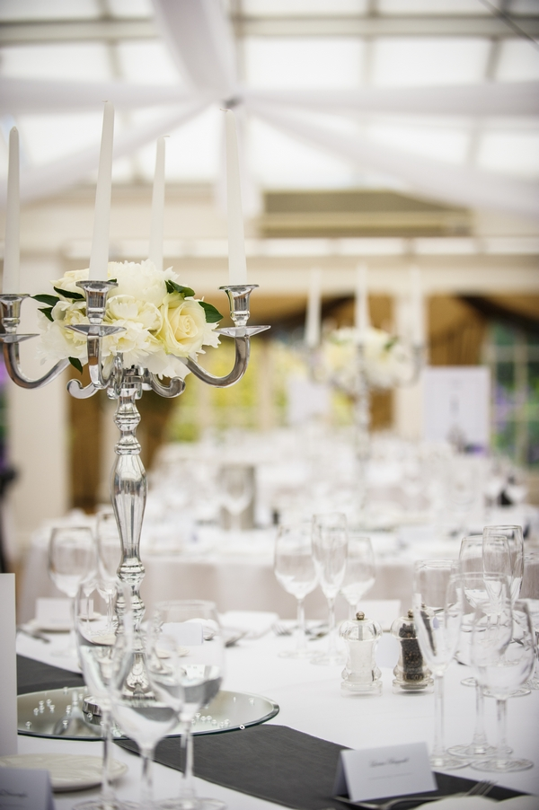 Candelabra on wedding table - Picture by Pixies in the Cellar