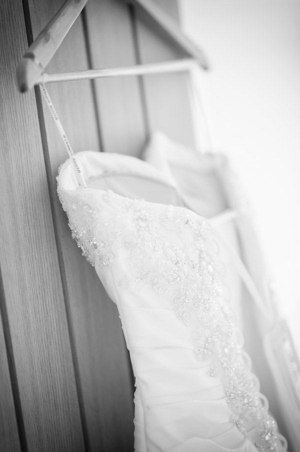 Wedding dress on hanger - Picture by Pixies in the Cellar