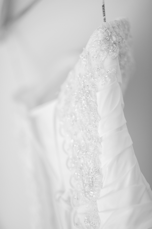 Detail on wedding dress - Picture by Pixies in the Cellar