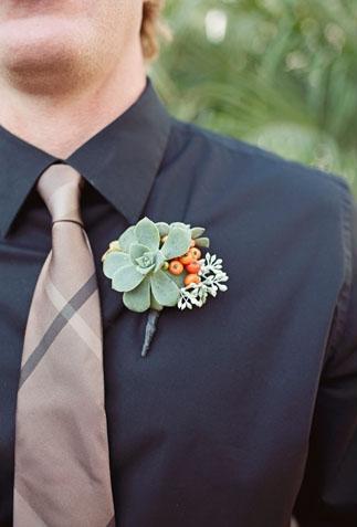 Succulent buttonhole - Picture by Joielala