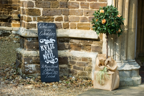 Chalkboard sign outside church - Picture by Gareth Squance Photography