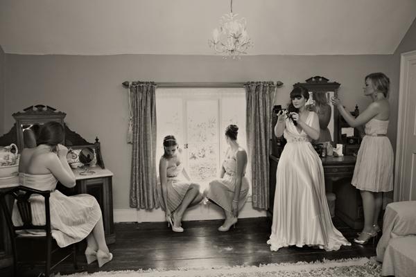 Bridal preparations - A Homemade Marquee Wedding