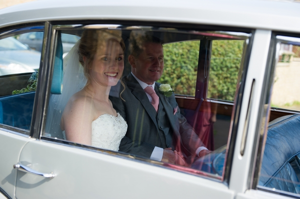 Bride in wedding car - Picture by Gareth Squance Photography