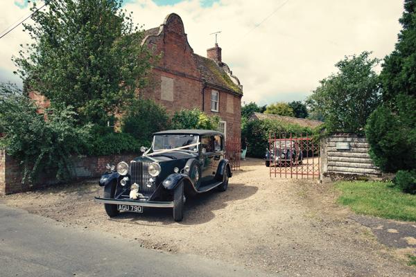 Vintage bridal car - A Homemade Marquee Wedding