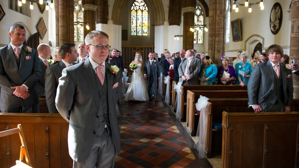 Groom waiting at altar for bride - Picture by Gareth Squance Photography