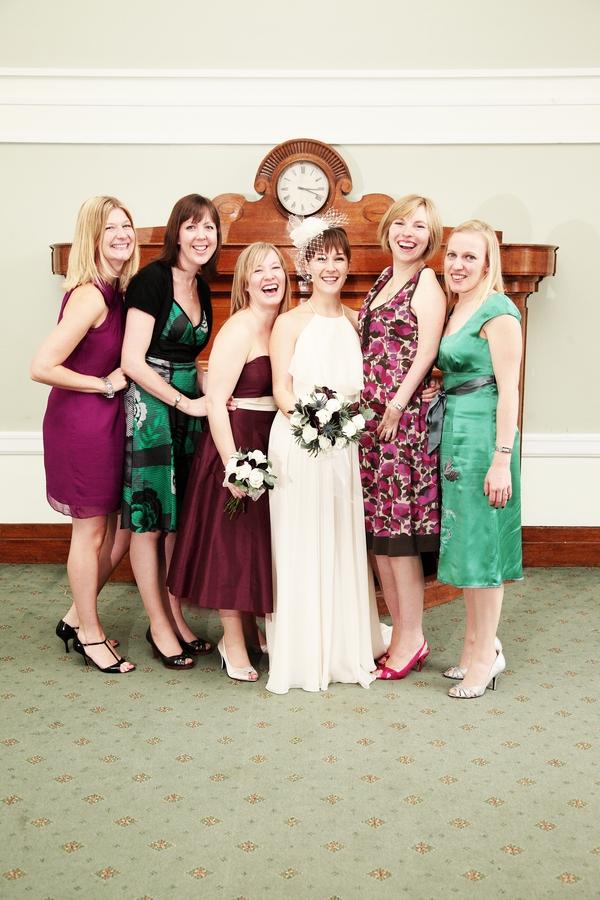 Bride, bridesmaids and friends - Picture by Rebecca Prigmore Photography