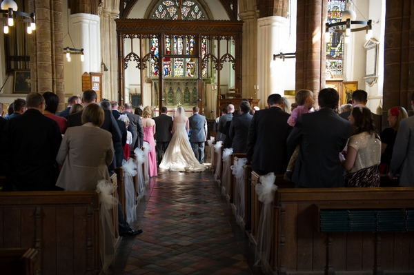 Church wedding ceremony - Picture by Gareth Squance Photography