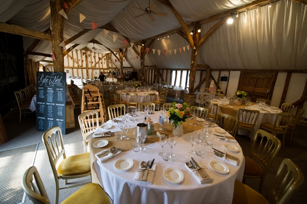 Wedding reception tables - Picture by Gareth Squance Photography