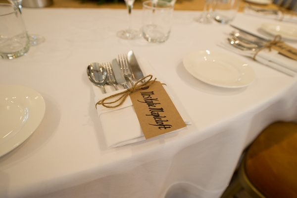 Country wedding place setting - Picture by Gareth Squance Photography