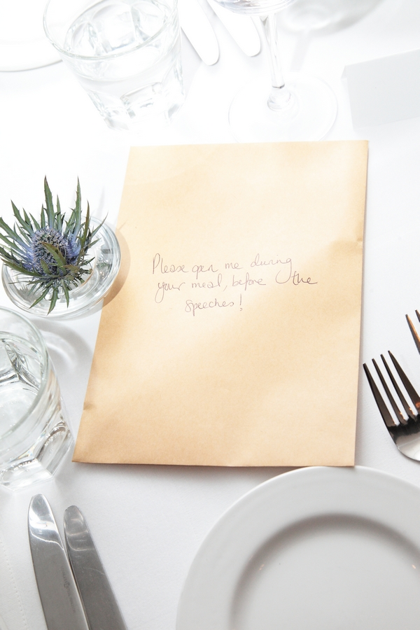 Wedding speech sweepstake envelope - Picture by Rebecca Prigmore Photography