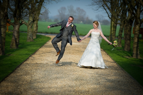 Groom jumping - Picture by Gareth Squance Photography