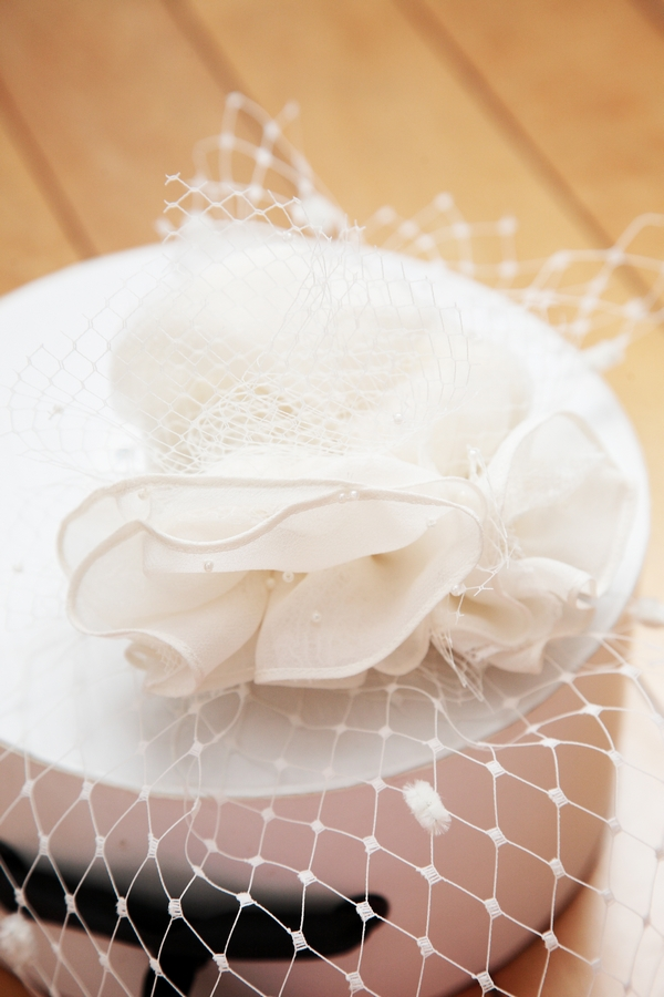 Birdcage veil on box - Picture by Rebecca Prigmore Photography