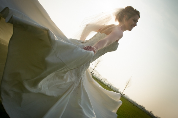 Bride twirling in wedding dress - Picture by Gareth Squance Photography