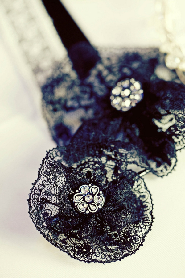 Black material with stones - Gothic Wedding Photo Shoot at Browsholme Hall