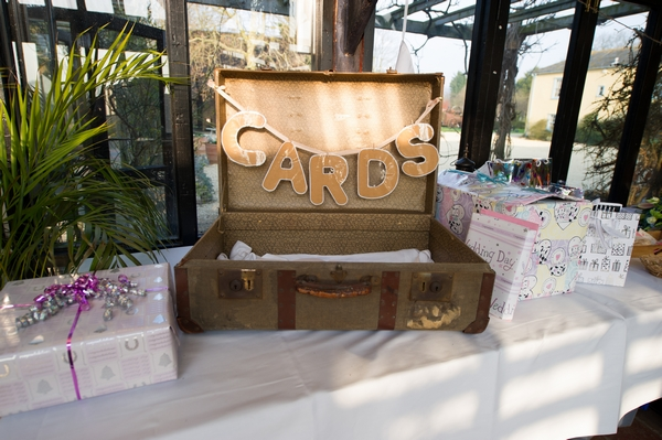 Suitcase for wedding cards - Picture by Gareth Squance Photography