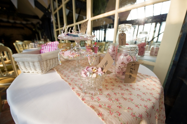 Table of wedding sweets - Picture by Gareth Squance Photography