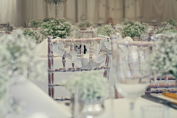 Wooden wedding chairs - A Homemade Marquee Wedding