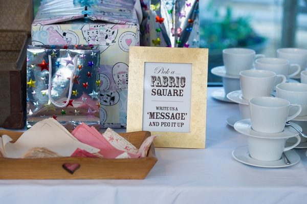 Fabric square guest book sign - Picture by Gareth Squance Photography