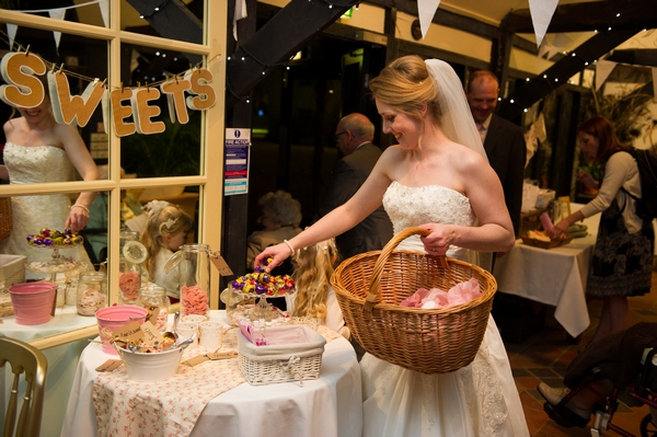 Bride holding basket - Picture by Gareth Squance Photography