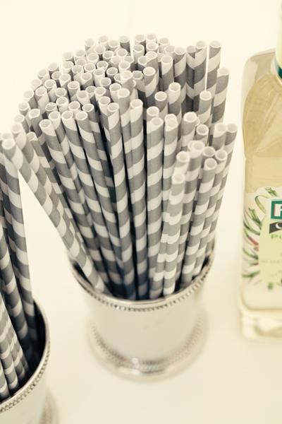 Striped straws - A Homemade Marquee Wedding