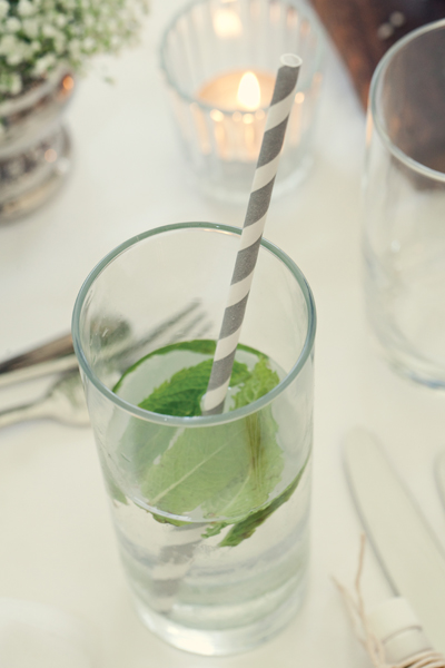 Wedding drink with lime - A Homemade Marquee Wedding