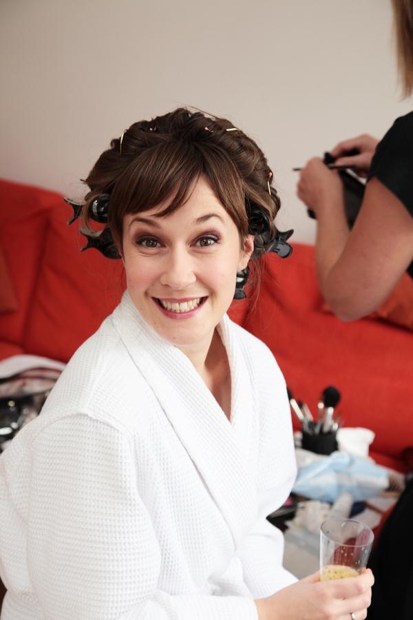Bride smiling at camera - Picture by Rebecca Prigmore Photography