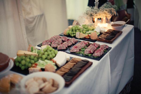 Wedding buffet food - A Homemade Marquee Wedding
