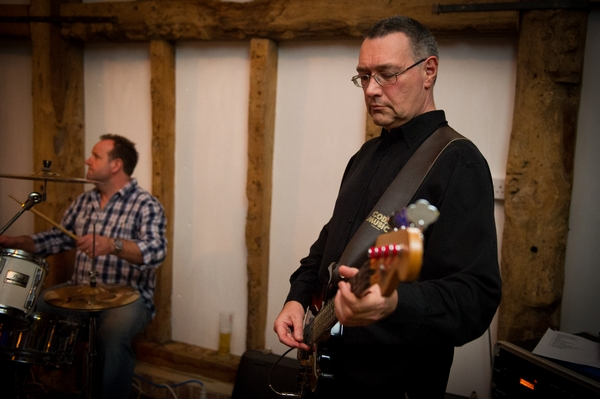 Guitar player in wedding band - Picture by Gareth Squance Photography