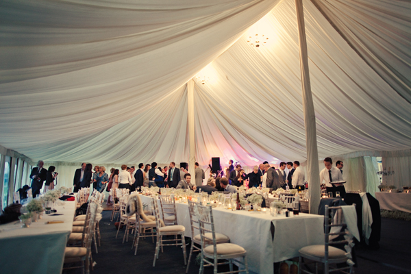 Wedding reception in marquee - A Homemade Marquee Wedding