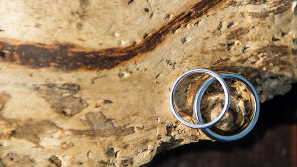 Wedding rings on wood - Picture by Gareth Squance Photography