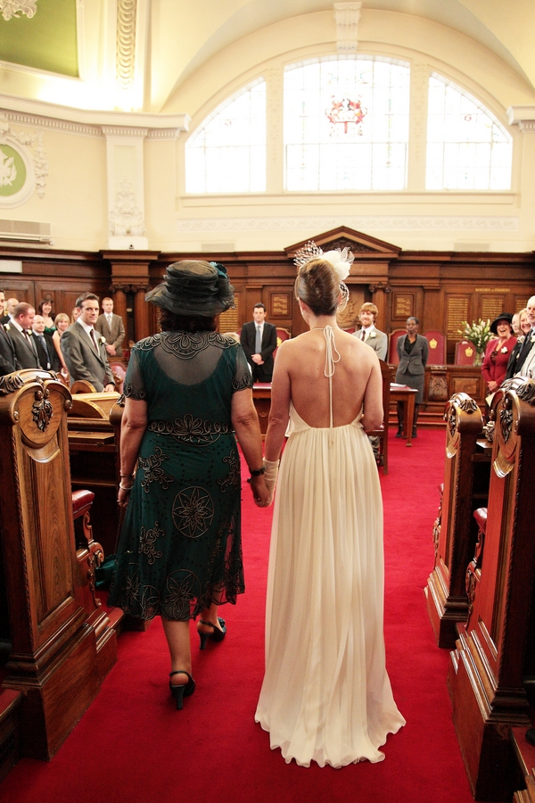 Mother walking bride down the aisle - Picture by Rebecca Prigmore Photography