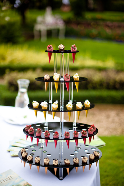 Mini Ice Cream Cones by Foster Event Catering LoveLuxe Launch - Inspirational Wedding Styling