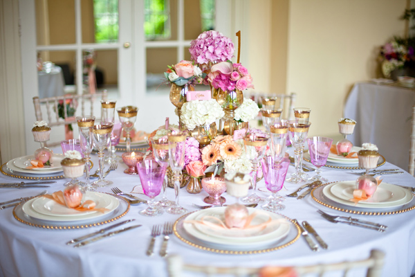 Table set up for wedding - LoveLuxe Launch