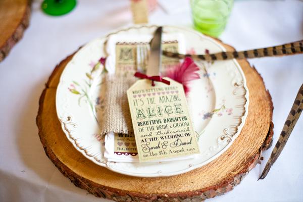 Vintage plate on a wooden mat - LoveLuxe Launch