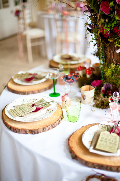 Vintage wedding table layout - LoveLuxe Launch