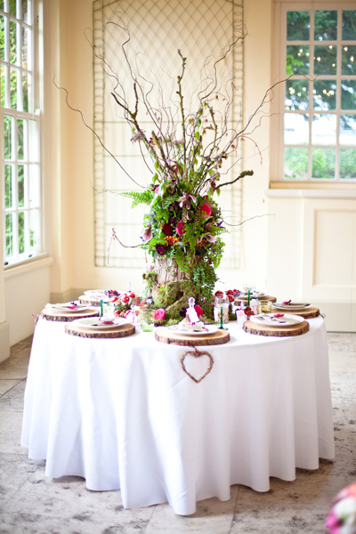 Fern and tree wedding table centrepiece - LoveLuxe Launch