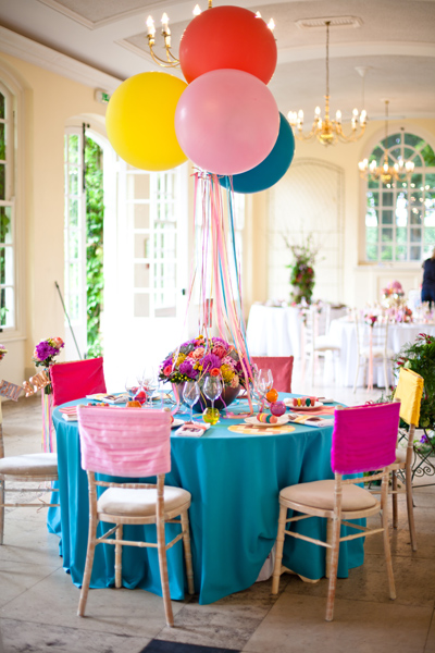 Brightly coloured wedding table - LoveLuxe Launch