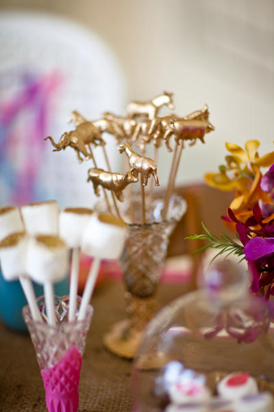 Gold animal stirrers - LoveLuxe Launch