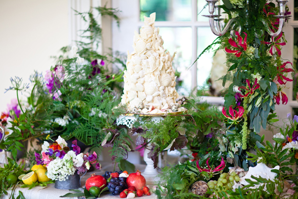White chocolate shell wedding cake - LoveLuxe Launch