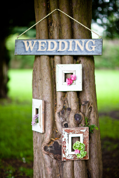 Tree with wedding sign on it - LoveLuxe Launch