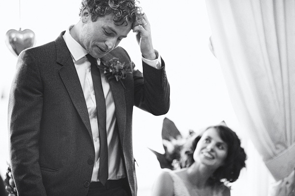Man scratching his head during wedding speech - Picture by York Place Studios