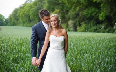 A Beautiful Garden Party Wedding at Lains Barn
