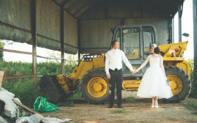 A Farm Wedding with a British Summer Theme