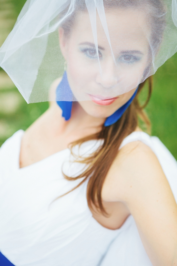 Bride with veil over face - A Spring Themed Wedding in Hungary