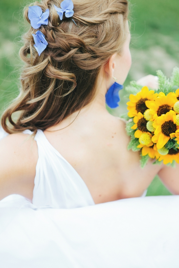 Back of bride's head - A Spring Themed Wedding in Hungary
