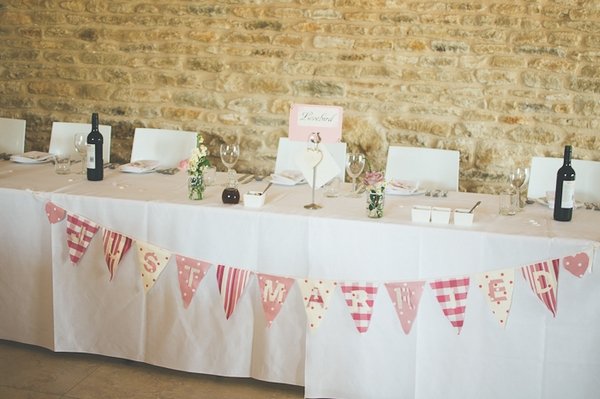 Table Plan Weddings Wedding Top Table With Bunting